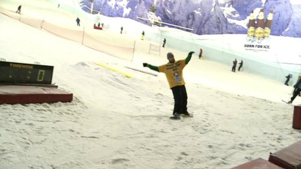 Snowboarder breaks world record