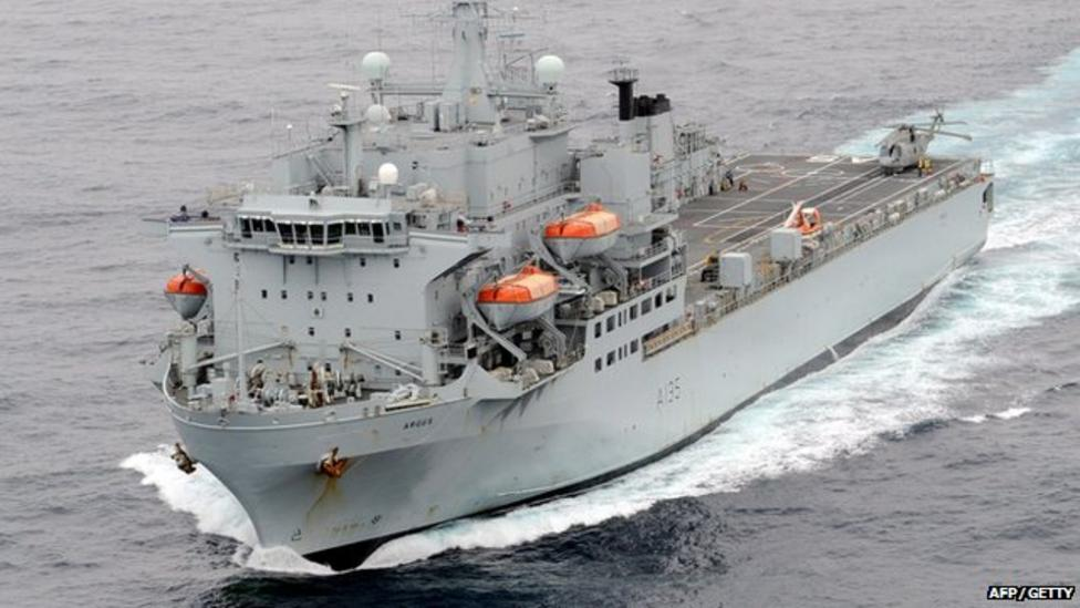 The ship helping to fight Ebola