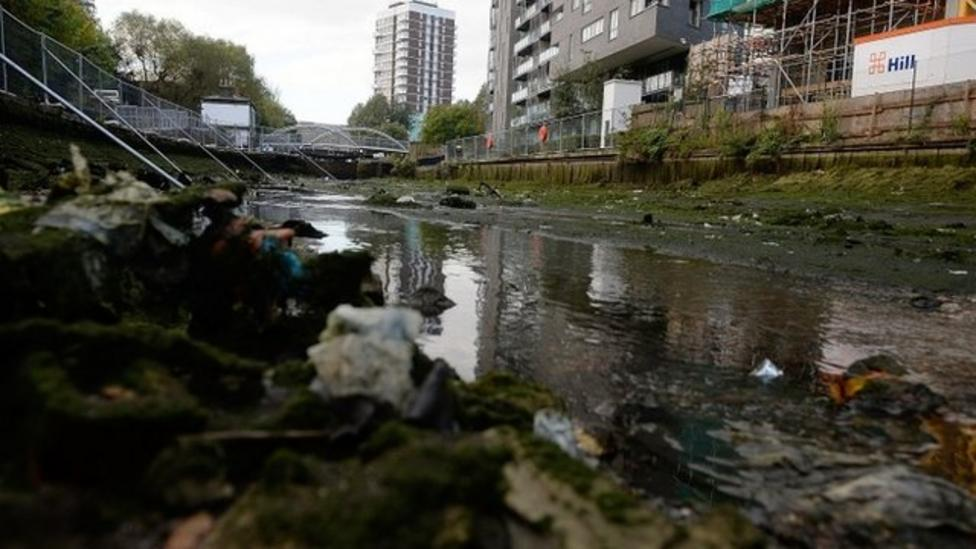 What lies in London's drained canals?