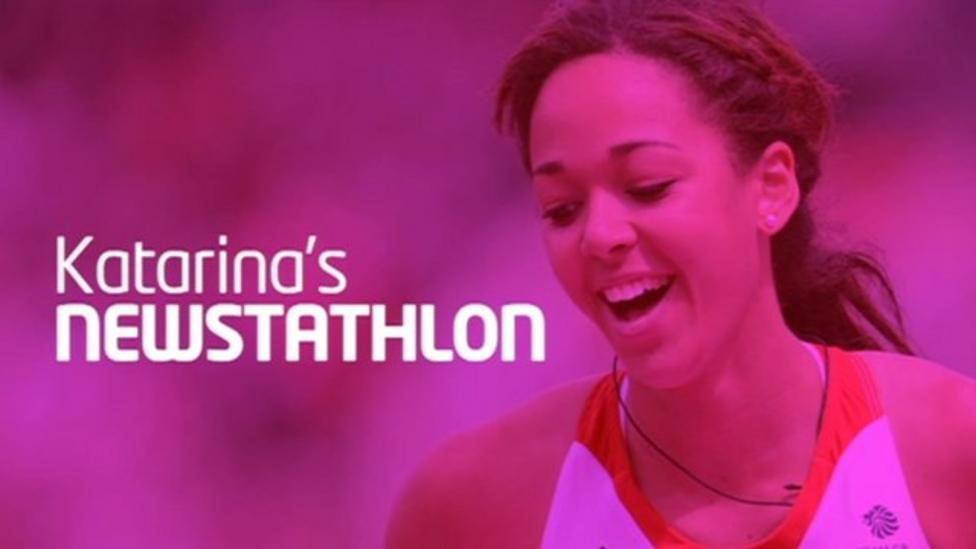 Katarina takes on the Newstathlon