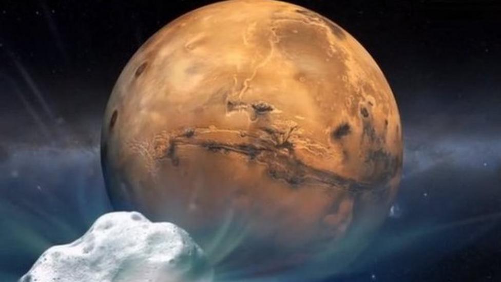 Comet to whizz past Mars