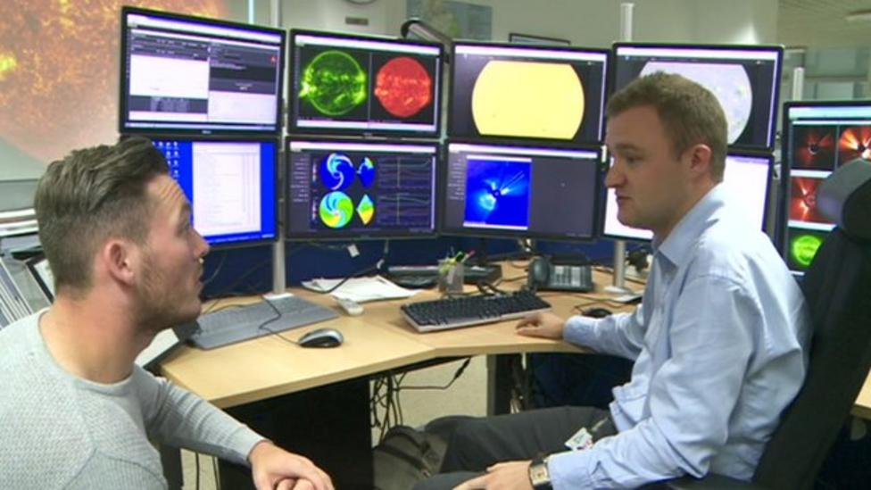 Visit to space weather centre