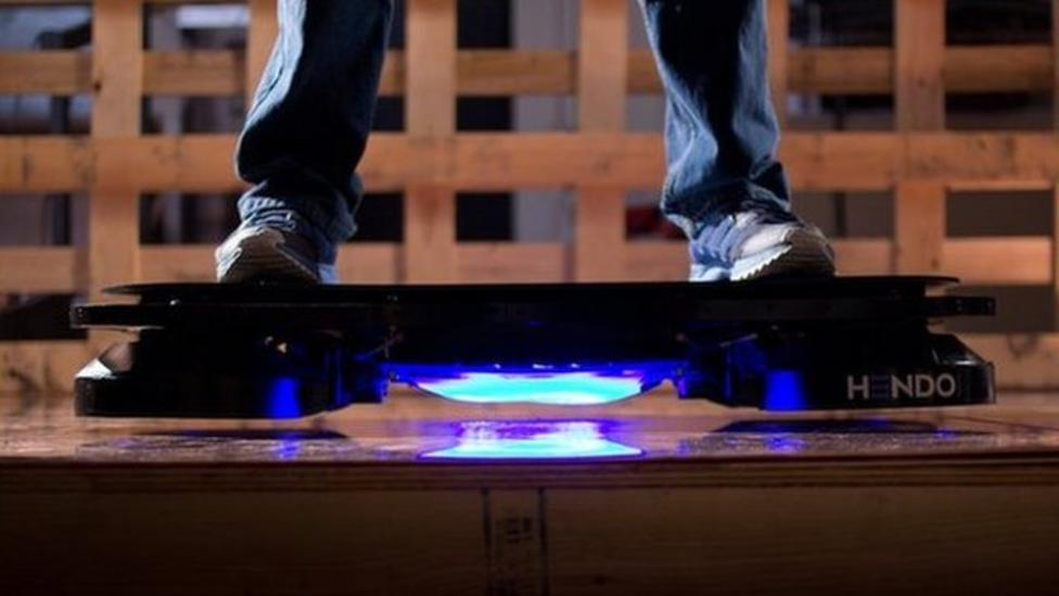 Scientists create real hoverboard