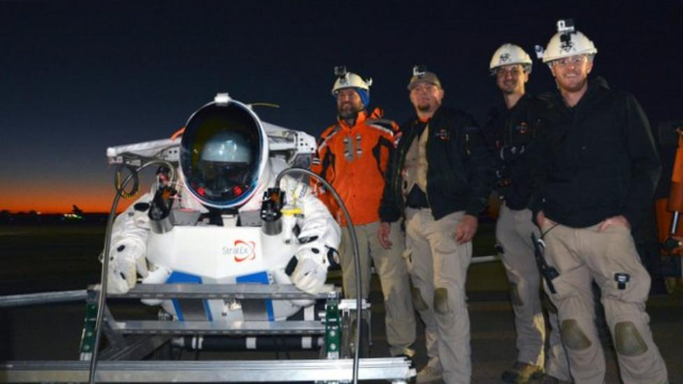 New space jump record set