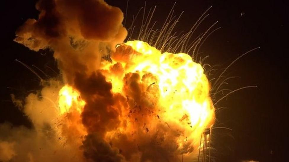 Unmanned rocket explodes during launch