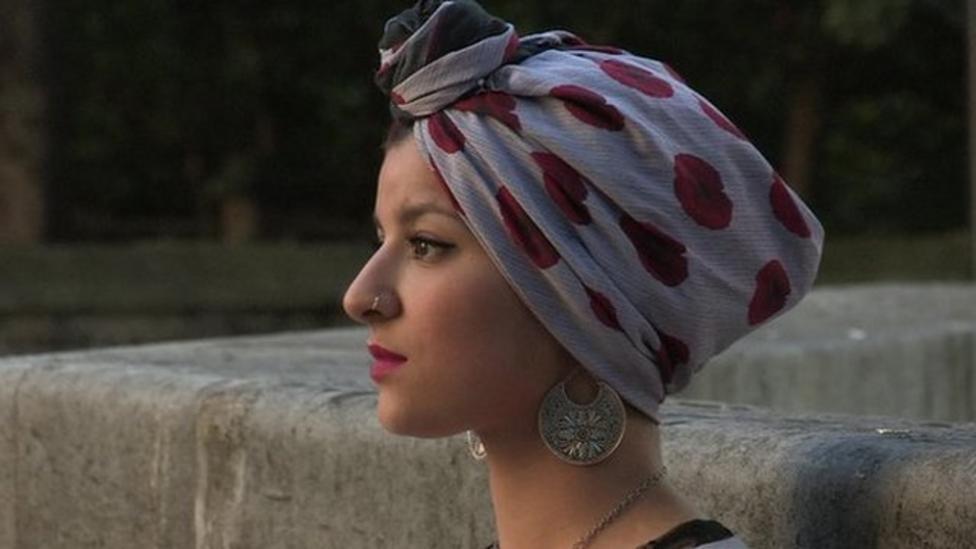 Designer creates poppy hijab