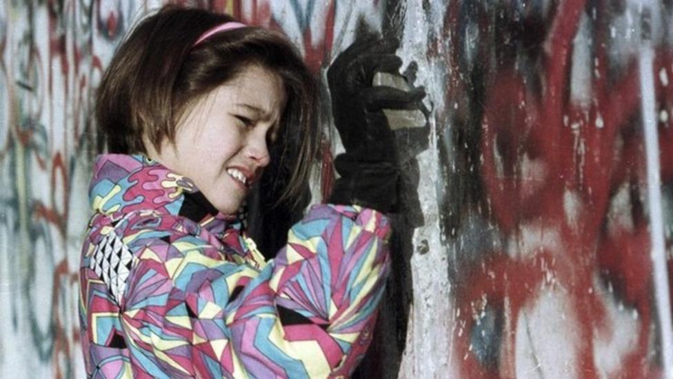 Memories of Berlin Wall coming down