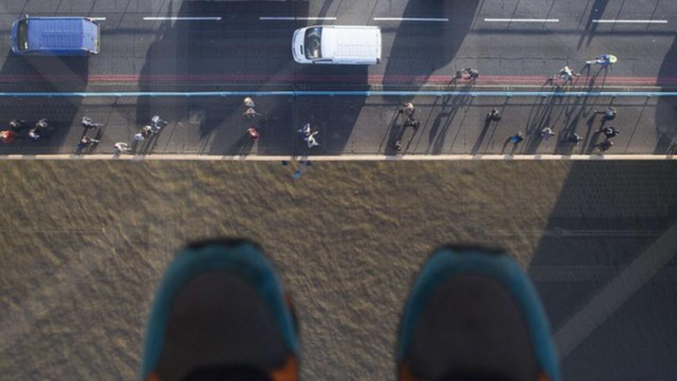 Bird's eye view from Tower Bridge