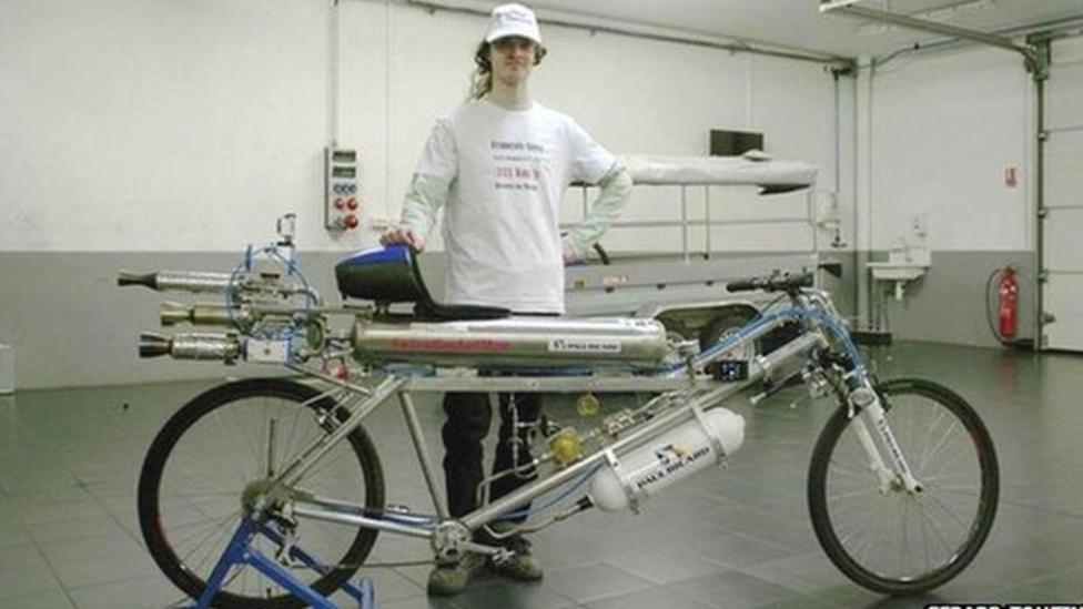 Rocket bike sets speed record