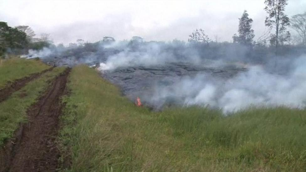 Time-lapse footage of Hawaii lava flow