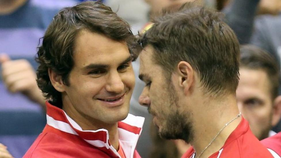 Image result for federer and wawrinka