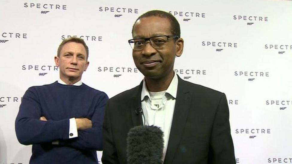 James Bond 'photobombs' BBC reporter