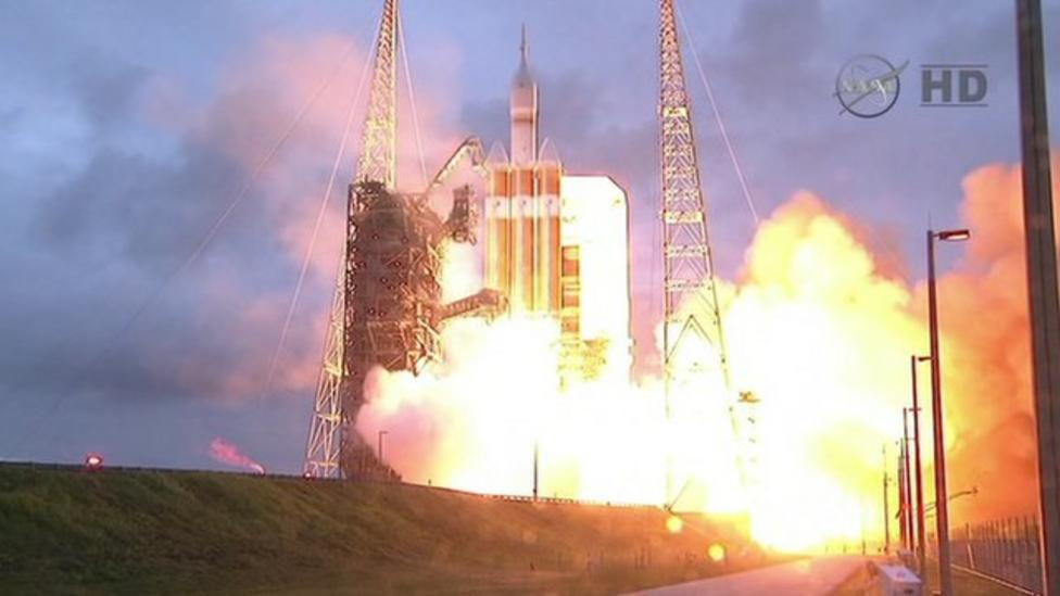 Watch the Orion space capsule launch