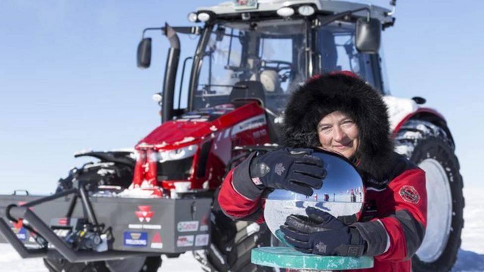 Explorer drives tractor to Antarctica