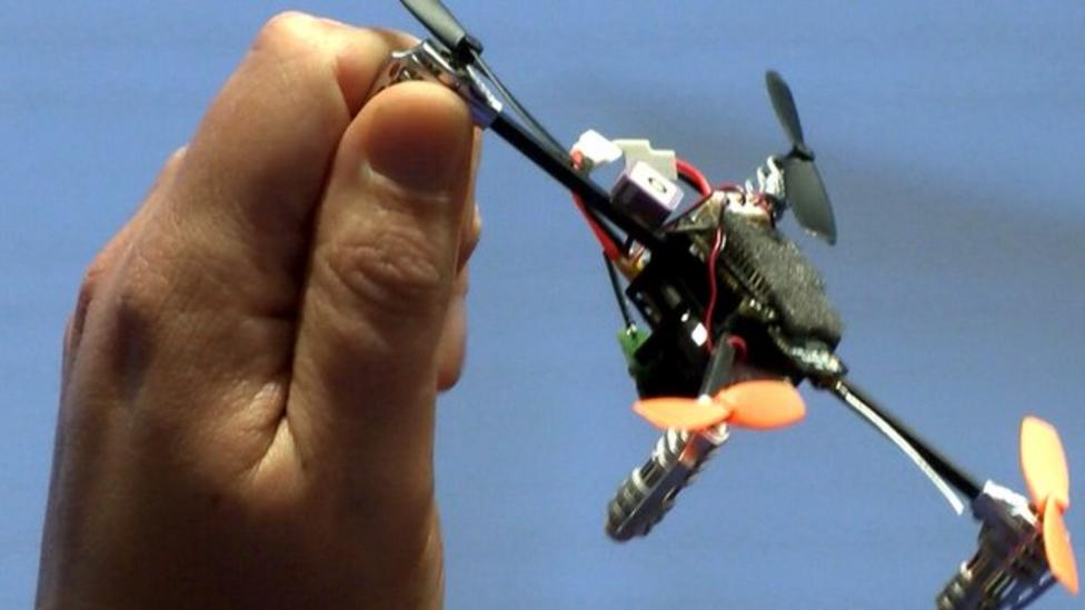 Hand-sized drone follows you round