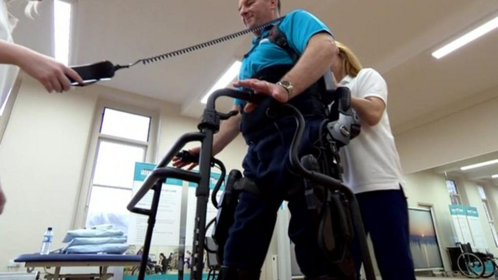 Amazing device helping disabled people walk