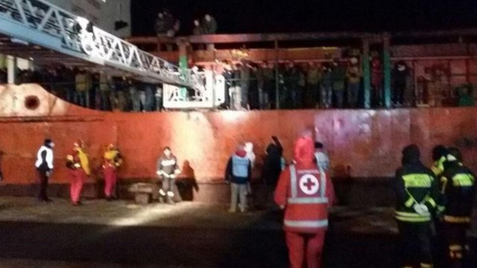 Abandoned ship brought safely to Italy