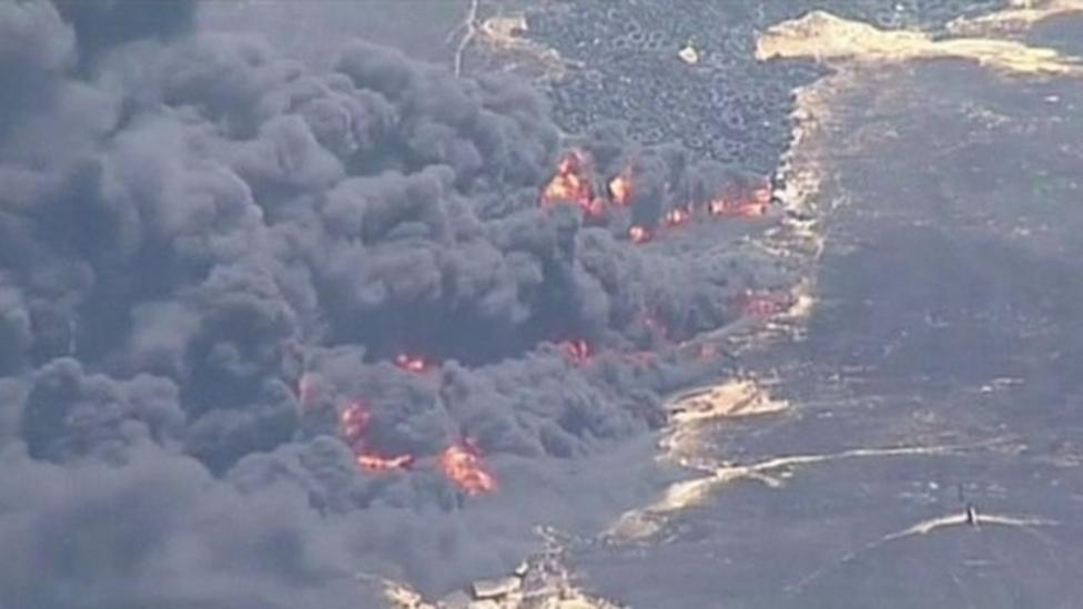 Firefighters battle bushfires in Australia