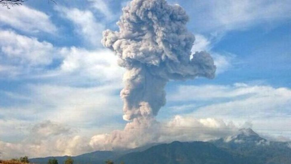 Mexican volcanoes erupted