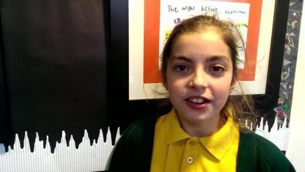 Children talk about the stranded cargo ship