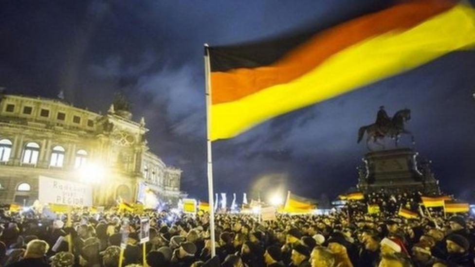 Rival demonstrations hit Germany