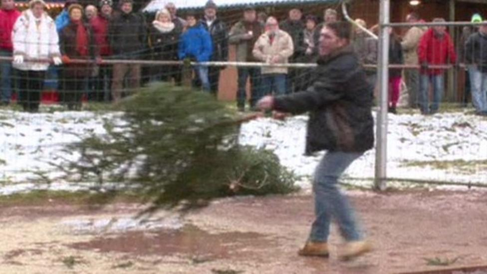 Christmas Tree Throwing World Championships