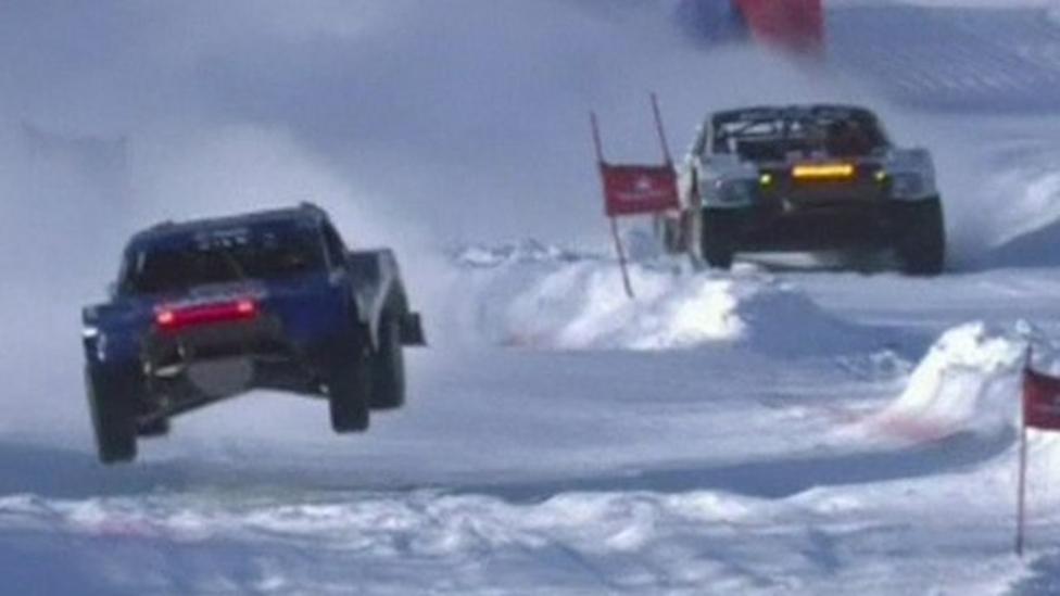Ice truck racing in America