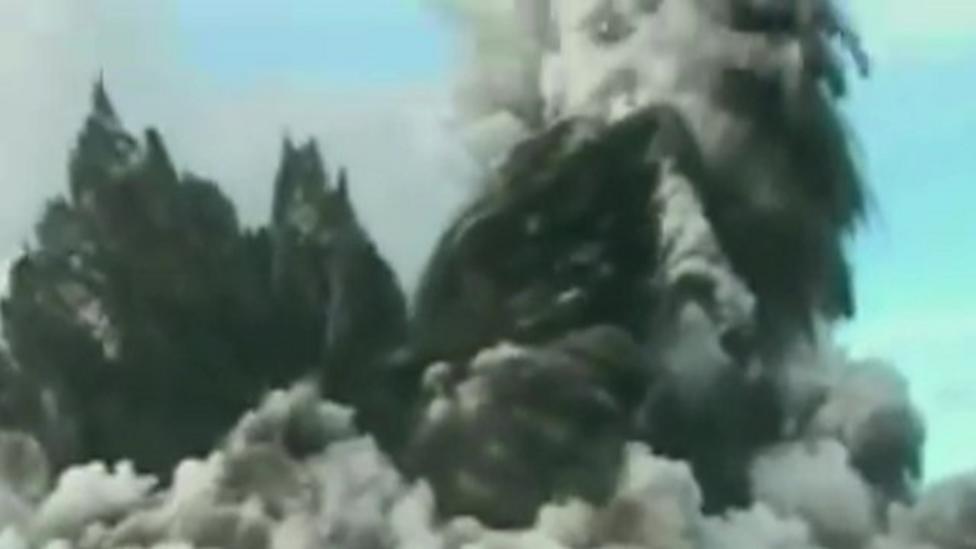 Underwater volcano disrupts flights