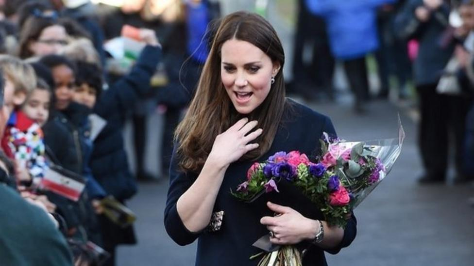 Duchess 'blooming' on school visit