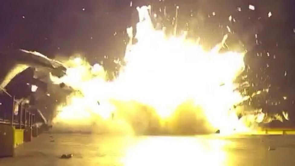 SpaceX rocket crash landing