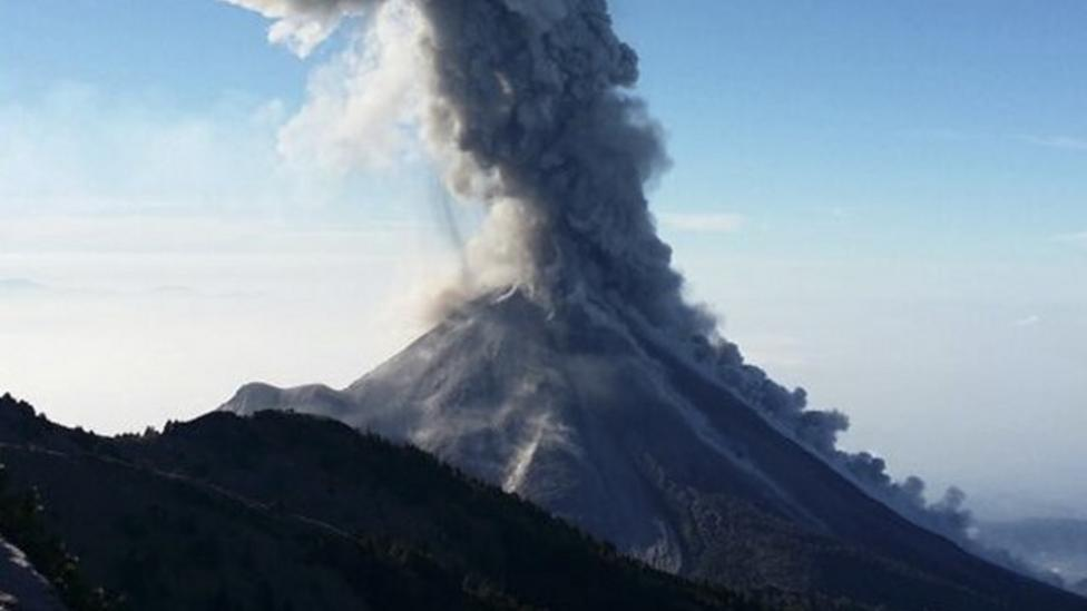 Timelapse film of volcano eruption