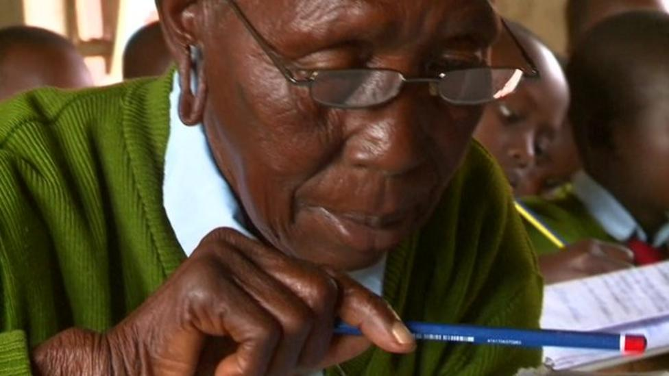 The world's oldest primary pupil?