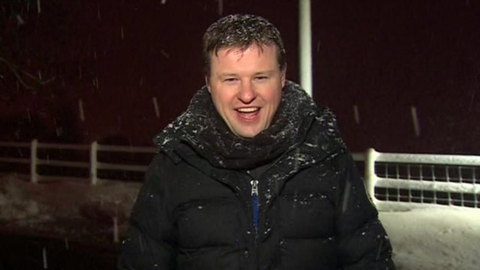 Snow situation in northern UK