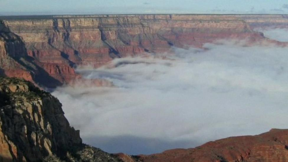 Sea of clouds at the Grand Canyon