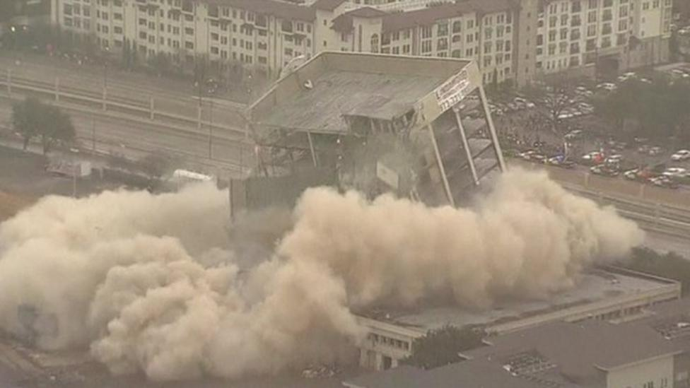 US office demolished in seconds