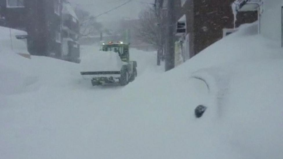 Record amount of snow in Japan