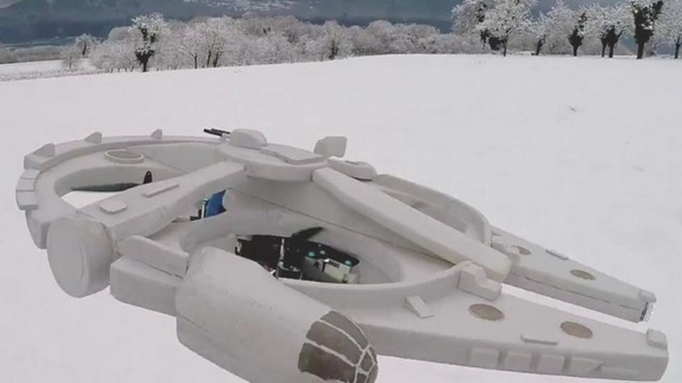 Star Wars fan makes Falcon drone