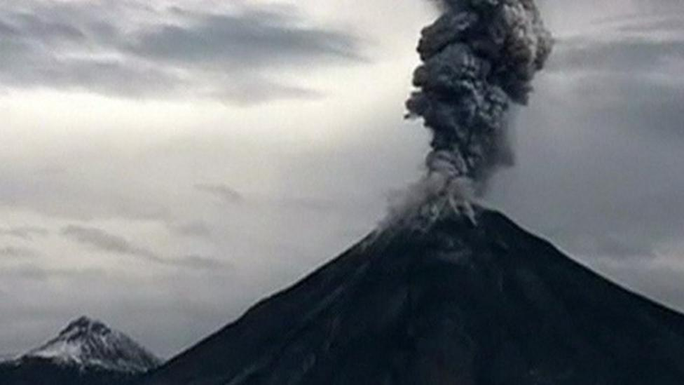 Volcano eruption caught on camera