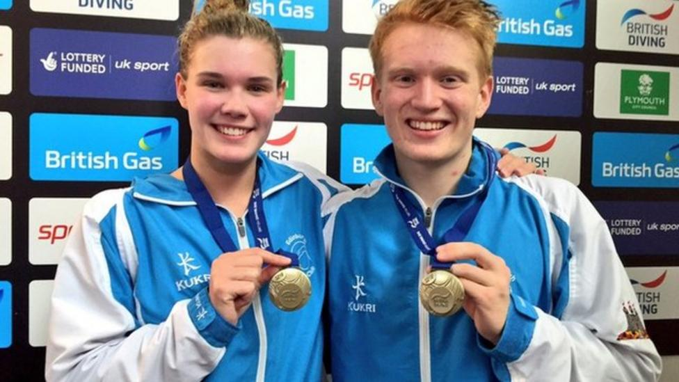 GB history for mixed diving pair