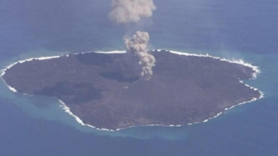 Japan volcanic island keeps growing