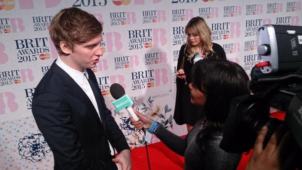 Newsround on the Brits red carpet