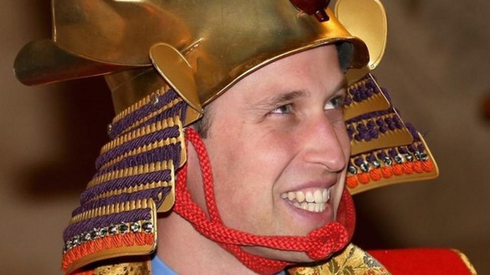 Prince William dresses up as samurai warrior