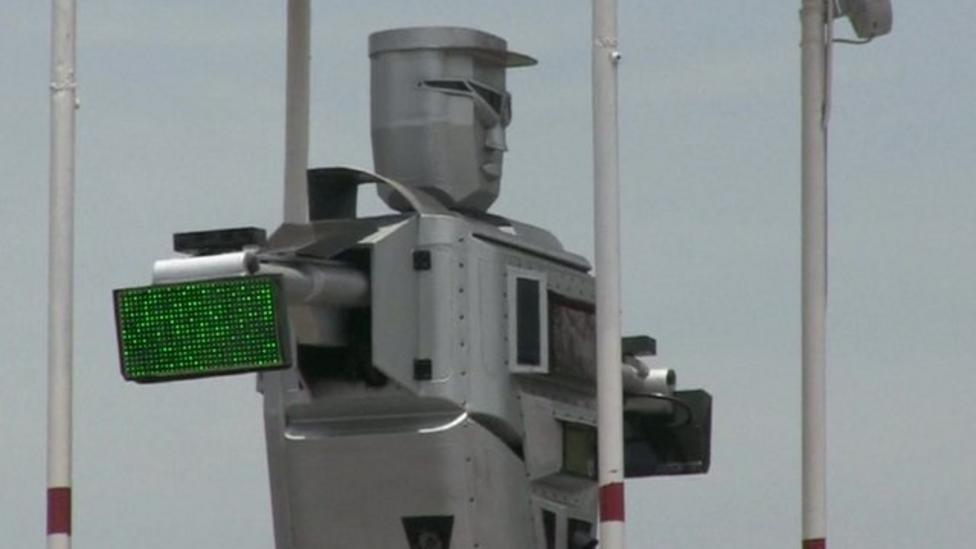 Robot traffic cops in Africa