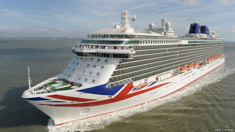 The Queen names huge ship Britannia