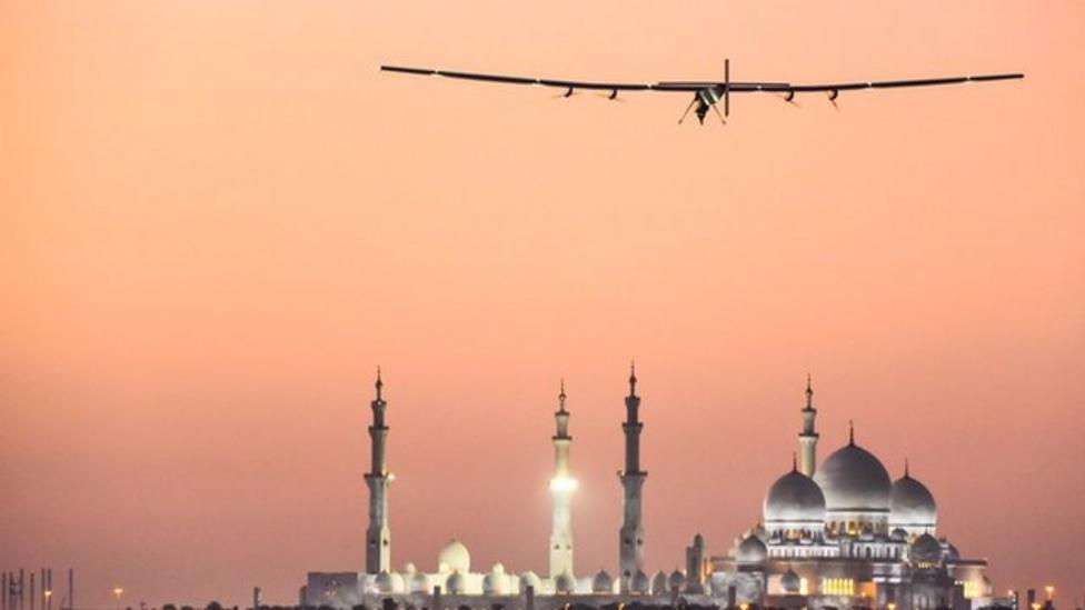 Take off for solar plane