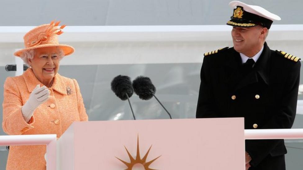Queen names cruise ship 'Britannia'