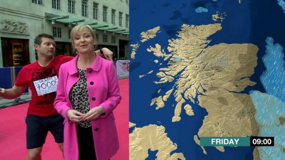 TV host dances through weather news
