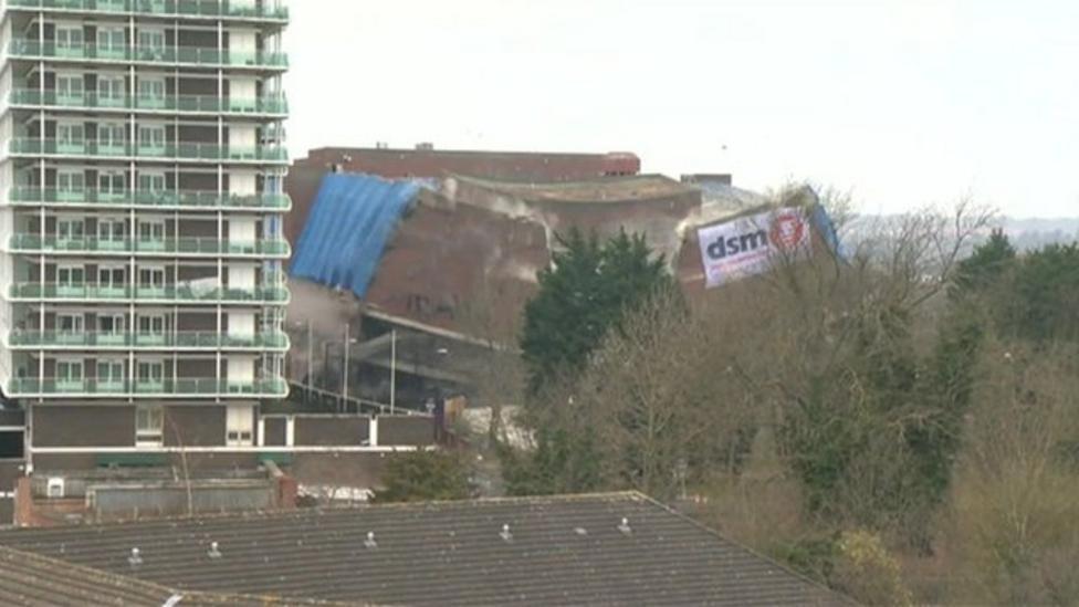 Bus station in Northampton demolished