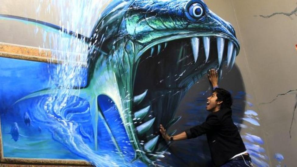 Kids become part of 3D art