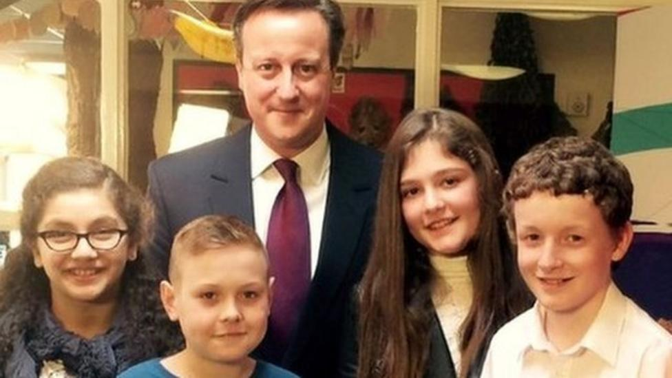 Kids pose questions to David Cameron